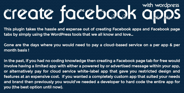 Create Facebook Apps with WordPress - 1